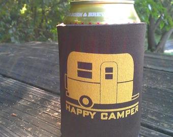 Happy Camper Can Cooler