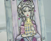 Rococo Girl, Marie Antoinette Artwork, Original Art, Original Painting, Original Illustration