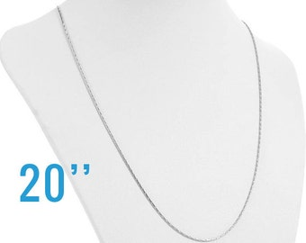 """Stainless Steel Silver Snake Chain Necklace with Clasp  20""""  - Ships IMMEDIATELY  from California - CH270"""