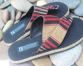 Vegan Men's Sandals in Tribal Naga Embroidered Cotton - Novak