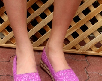 Womens Loafers In Lilac Hmong Batik - Chloe