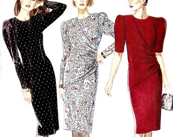 PATTERN New Look 6195 Wrap/Drape or Fitted Dress knee length Size 8-18 (uncut)