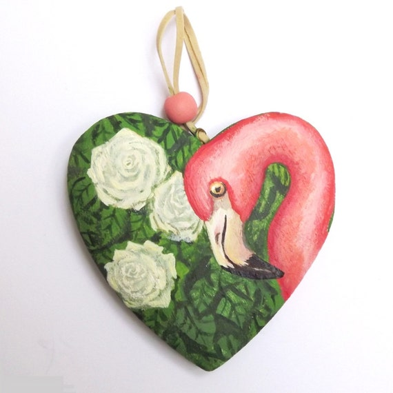 pink flamingo ornament  alice themed christmas decoration
