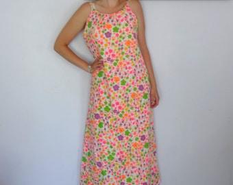 Vintage 60's XL Maxi Dress
