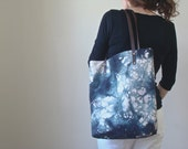 Market tote weekender bag carryall hand dyed