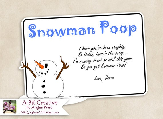 Massif image throughout snowman poop printable