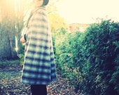 Vintage Plaid Wool Long Cape Small Medium - PrettyColourful