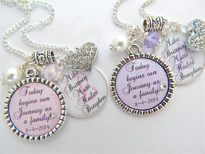 STEP DAUGHTER Gift Step Mother Purple Chram Necklace Wedding