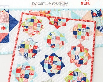 Rise & Shine MINI Quilt Printed Pattern - Mug Rug - Thimble Blossoms by Camille Roskelley of Bonnie and Camille