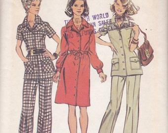 1970s Shirt, Dress and Pants Pattern Simplicity 5735 Size 12 Uncut