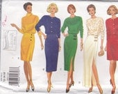 """1990's Butterick Sewing Pattern No 3553 - Dress Size 12-16 Bust 34-38"""" Factory folded Unused."""