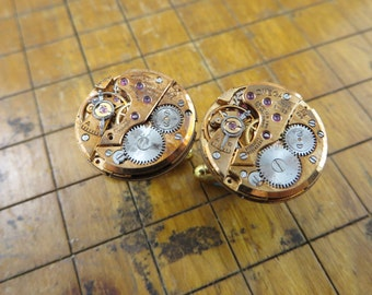 Omega 620 Watch Movement Cufflinks. Great for Fathers Day, Anniversary, Groomsmen or Just Because.  #111