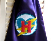 Girls Superhero Cape-Christmas cape-Personalized Letter-Superhero Cape-  - Choose the Initial - Reversible - Superhero Party