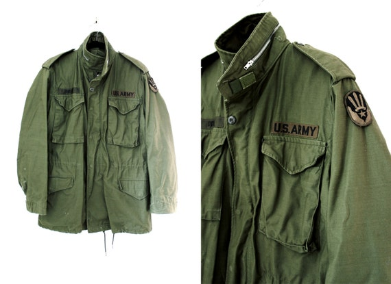 Vintage Mens Green Army Jacket US Army Jacket Military