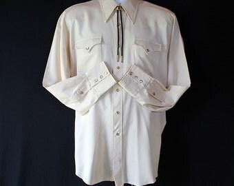 H Bar C Ranchwear / Shirt / Rockabilly / Cowboy / Westernwear / 1970s