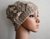 KNITTING PATTERN PDF - Sand Castle - Knitarelli slouchy knit hat - instant download