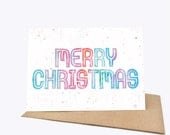 Watercolour Christmas - Greeting card - Sustainably Printed