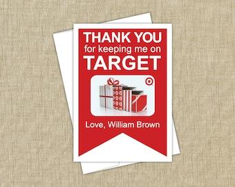 Target gift card holder. INSTANT DOWNLOAD