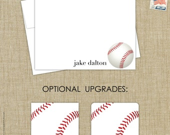 baseball stationery set note cards. set of 15