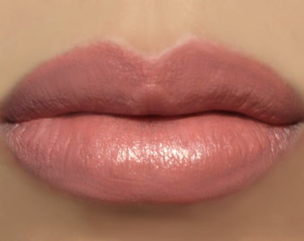 "Vegan Peach Pink Lipstick - ""Amorous"" (peachy pink / coral lipstick) natural lip tint, balm, lip colour"