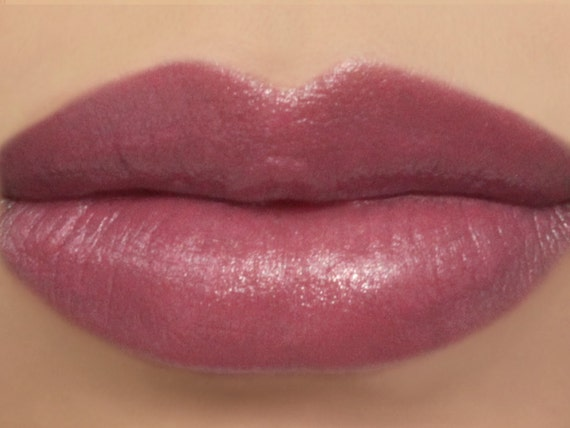 "Vegan Lipstick - ""Ladylike"" (natural dusty rose pink lipstick) lip tint, balm, lip colour mineral lipstick"