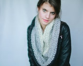 Toronto Tri-Colored Chunky Infinity Cowl Scarf - Gorgeous Ombre cowl in 3 colors