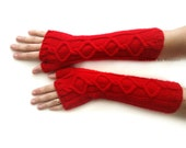 Fingerless Gloves, Long Fingerless Mittens, Knit Gloves