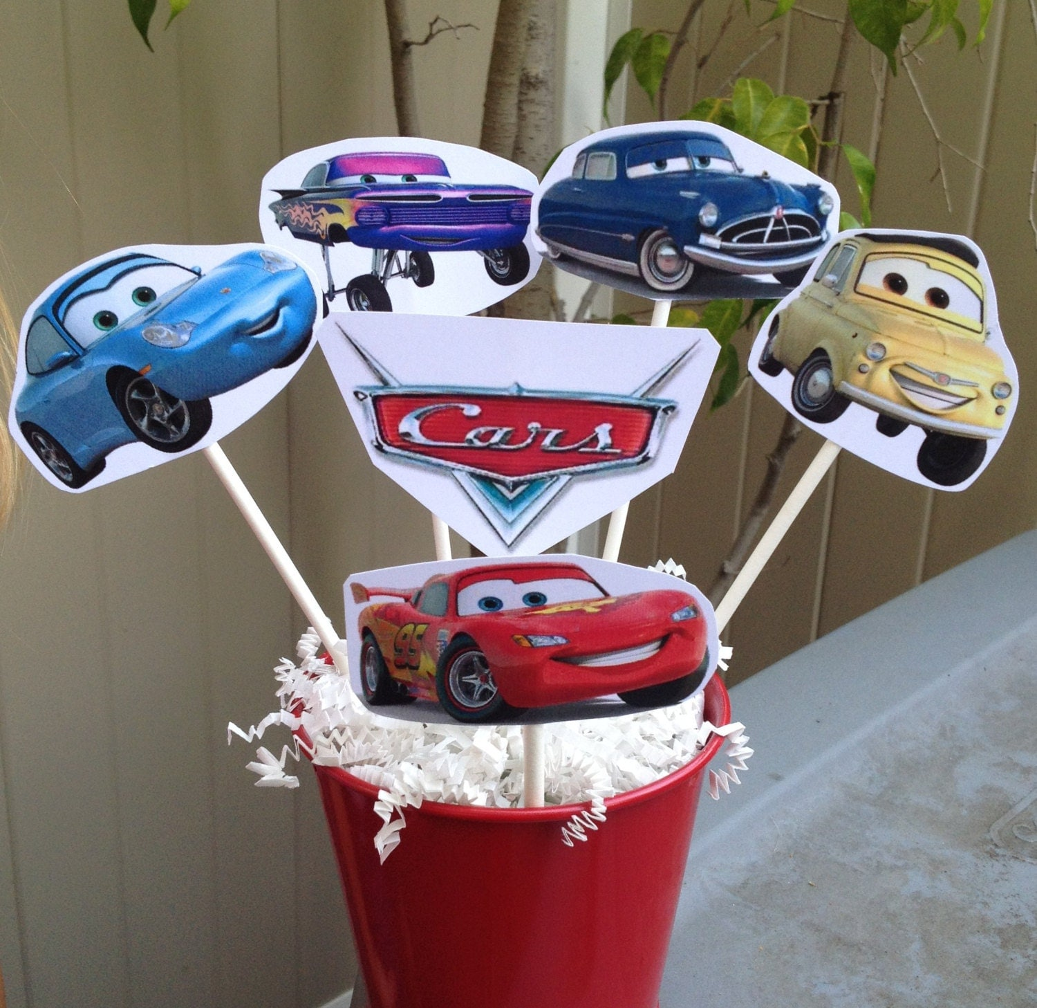 Cars centerpiece disney inspired party decorations