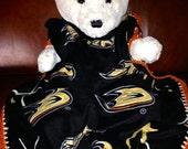 Anaheim Ducks Hockey Fleece Sports Baby Blanket