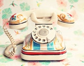 Retro art prints, retro art, retro telephone photography, office decor, office wall art, large wall art, large art, still life photography