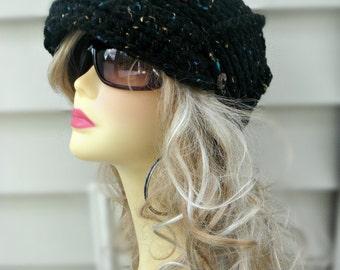 Crochet Newsboy Hat Ladies Hat Crochet Brim Hat Girls Newsboy Hat Winter Hat Womens Hat Winter Accessories Womens Accessories
