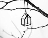 """Christmas ornament - """"Glass House"""", Christmas Glass Ornament, Christmas Gift, Christmas Decor"""