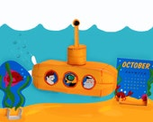 Yellow Submarine: DIY Paper Craft Calendar of the Month- Download
