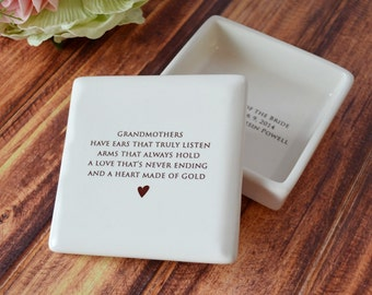 Grandmother Gift - Square Keepsake Box - With Gift Box