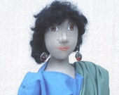 17 inch ancient Greek woman standing cloth doll figure, named Anthea