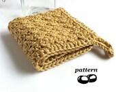 Crochet Washcloth Pattern / Crochet Facecloth Crochet Flannel / Bathroom Face Hostess Gift