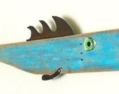 William SHAD-ner, Garden fish art, reclaimed wood, folk art