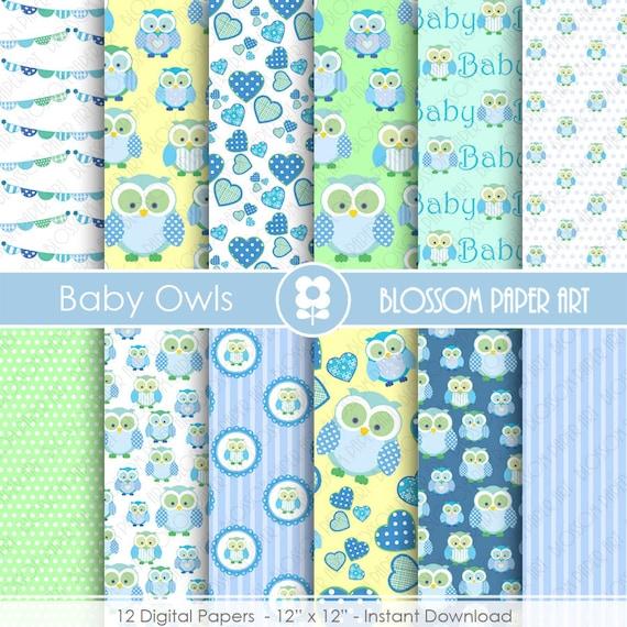 Papeles digitales bebes celeste azul verde papeles - Papeles decorativos para imprimir ...