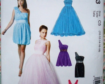 McCall's Misses' Dress And Flower Pattern M6466 (Also Called MP333) - Size 4-6-8-10