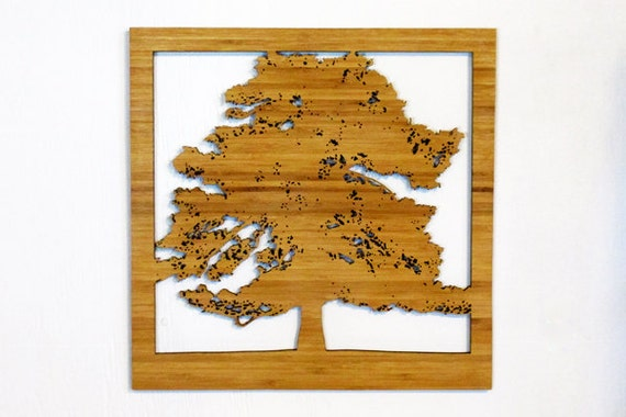 Wall Decor Pine Trees : Items similar to pine tree silhouette wall art decor eco