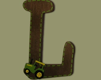 Tractor Letters Wooden Letters Painted Letters Name Letters Nursery Name Letters Baby Name Letters Wall Hanging Letters for Nursery