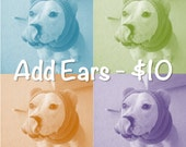 Pair of Fleece Ears - Add-on Option for Made-to-Order SnugABulls
