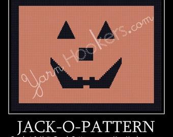 Jack-O-Pattern - Afghan Crochet Graph Pattern Chart - Instant Download