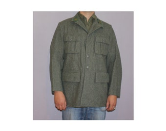 Rare and authentic WW2 Vintage Swedish army wool coat jacket 1943
