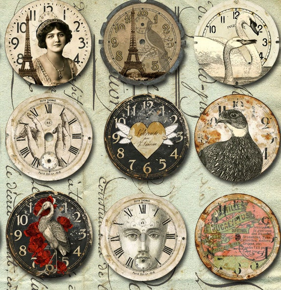 30 Vintage Art Watch Clock Faces With Animals Amp More Instant