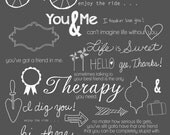 34 Best Friend Photoshop Brushes Word Art Set /Chalkboard/ Chalk/ Overlays / Clip Art / Digital Stamps / Digital Scrapbooking