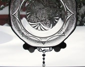 Royal lace Suncatcher upcycled From Royal Lace Colectible Plate