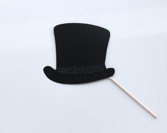 Top Hat with Glitter Band