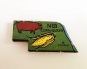 Nebraska magnet Vintage puzzle piece