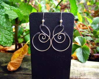Small Free Form Sterling Silver Earrings